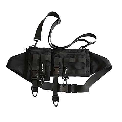 Cangurera Paquete de la cintura funcional táctico multi-bolsillo Paquete de teléfono ocasional para correr al aire libre Correr Hip Hop Ráfico de la plataforma de la plataforma de la plataforma de la