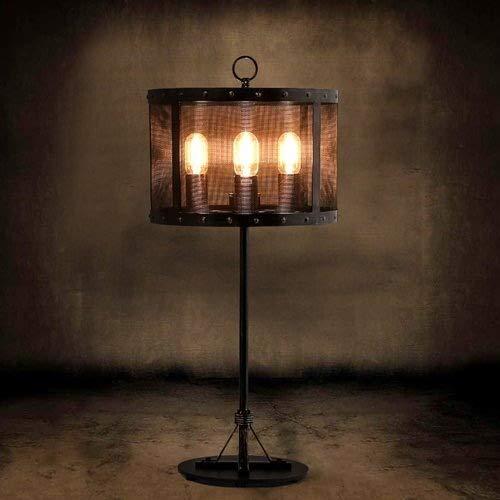 SGWH industrieel net, tafellamp, 4 lampen, retro, kantoor, loft, restaurant, bar, tafellamp, hoogte 82 cm, spanning 110~140 V