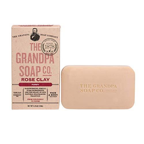 Grandpa's Soap Co. - Face & Body Bar Soap Rose Clay - 4,25 oz.