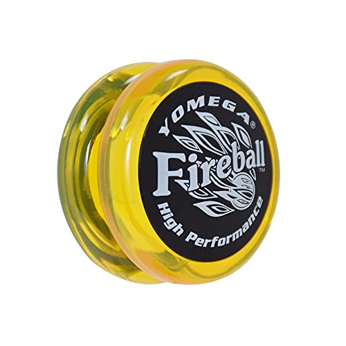 Yomega Fireball - Professional Responsive Transaxle Yoyo, Great for Kids and Beginners to Perform Like Pros + Extra 2 Strings & 3 Month Warranty (Yellow)