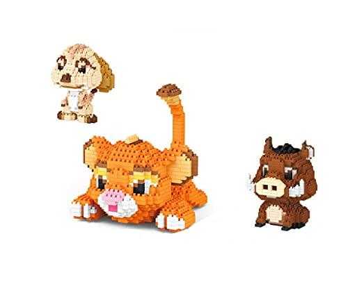 BAIDEFENG Mini Baustein 3 in 1 Cartoon Tiermodell Nano Building Kit Micro Ziegelsteine 3D Puzzle DIY Bildung Spielzeug Geschenk Für Kinder