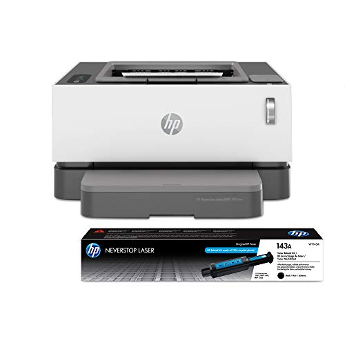 HP Neverstop Laser Printer 1001nw   Wireless Laser with Cartridge-Free Monochrome-Toner-Tank (5HG80A) with-Toner Reload-Kit