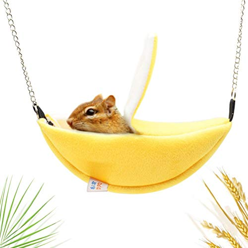 Freshwater Pet Hamster Hanging House Hammock Sleeping Bed for Gerbil Rat Mouse Chinchilla Guinea Pig Ferret Squirrel Hedgehog Small Animal Cage Toy Swing Accessories