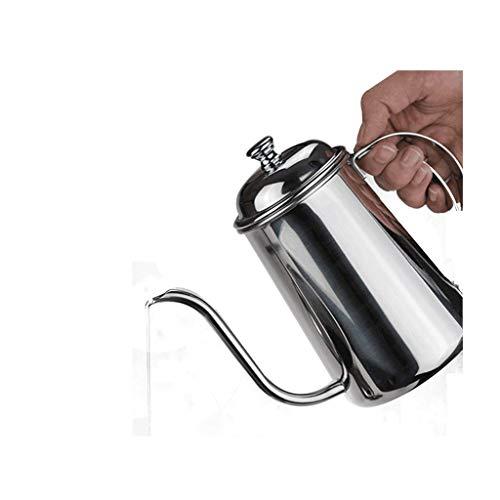 Cafeteras JXLBB Espesar 304 Acero Inoxidable Fina Boca Olla Café Mano Elaboración de calderas 650 ml Fácil de controlar Gota de Agua Fugas de café Dispositivo