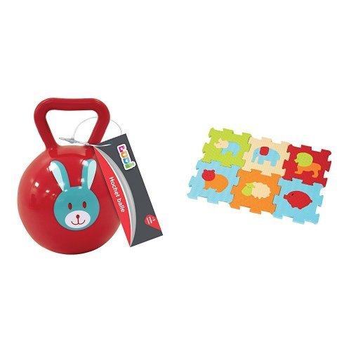 Ludi - 30012 - Hochet Balle - Assorties + Ludi - 1007 - Baby dalles