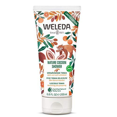 WELEDA Nature Cocoon Shower Dusche, pflegende Naturkosmetik Winter Duschecreme, Limited Edition Duschgel Body Wash auf pflanzlicher Basis mit umhüllendem Duft nach Tonka, Orange und Benzoe (1x 200 ml)