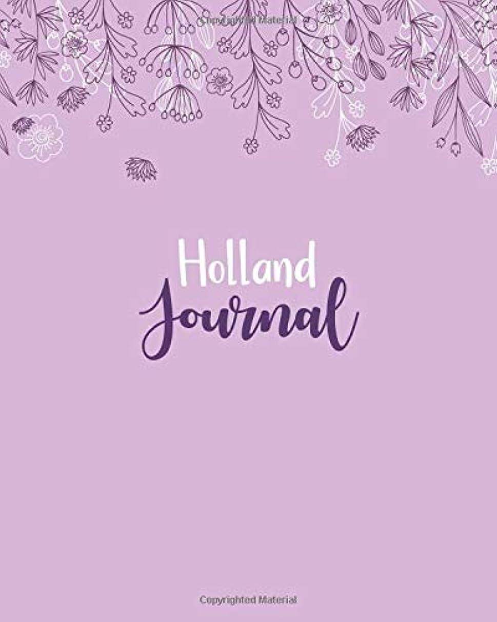 応用原子自動化Holland Journal: 100 Lined Sheet 8x10 inches for Write, Record, Lecture, Memo, Diary, Sketching and Initial name on Matte Flower Cover , Holland Journal