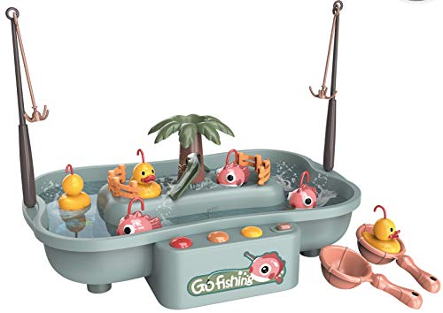 Go Fishing Game Circulating Water Board Game for Toddlers Age 3 and Up (Includes 21 Pieces) Fixson