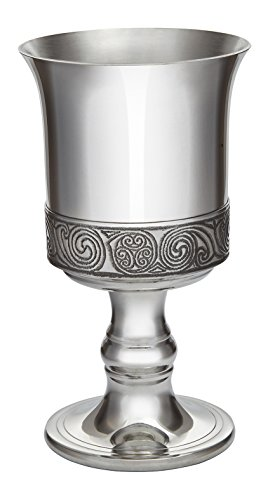 Wentworth Pewter - Kells Celtic band Pewter Goblet, Wine Goblet,
