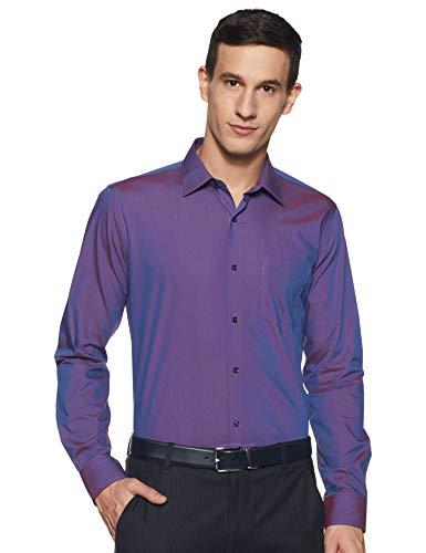 Van Heusen Men's Paisley Slim fit Formal Shirt (VHSFCSLPK56160_Lilac 42)