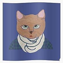 Patterns Paper Blue Cat Scrapbook Impresionantes carteles para la decoración de la habitación impresos con la última tecnología moderna sobre papel semibrillante