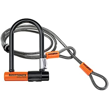 Kryptonite Evolution Mini-7 Bicycle U-Lock w/ 4' KryptoFlex Double Loop Cable