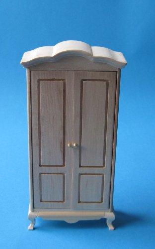 Unbekannt Puppenhaus Kleiderschrank Walnuss oder Natur Puppenmöbel für Puppenhaus Miniatur 1:12 (Natur)