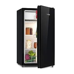 KLARSTEIN Luminance Frost - Réfrigérateur, 91L, 110 kWh/an, 7 niveaux de réglage de la température, Eclairage intérieur, Look moderne, Bac à oeufs, Clayettes verre - Noir