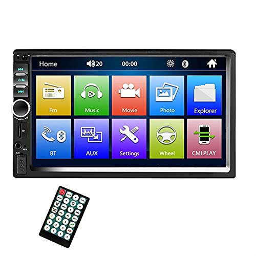 MJJCY Bluetooth 2DIN Car Radio 2 DIN Car Multimedia Player 2DIN Autoradio Android MirrorLink 2din Car Estéreo MP5 Bluetooth USB FM Cámara Multimedia (Color : Green)