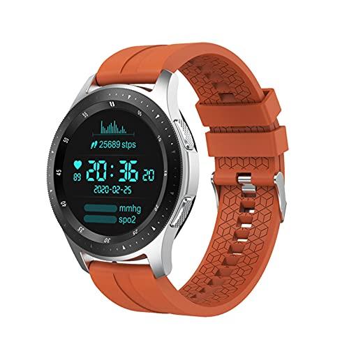 PYAIXF Reloj Inteligente, Rastreador De Fitness Avanzado GPS Seguimiento De Natación Musica Funcional Monitoreo De Energía por Niños Mujeres Hombres Podómetro-Orange