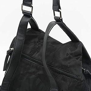 41QbAooxtlL. SS300  - Misako – Mochila Antirrobo de Mujer EGUNI 11 X 28 X 30 cm en Color Negro   Mochila práctica con Bolsillo Principal en la…