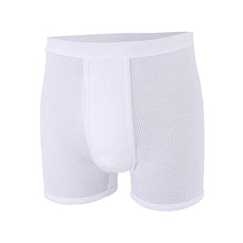 ADAMO Kurze Feinripp Unterhose in weiß Übergröße 20, Größe:16