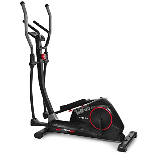 Spokey Alear - Bicicleta elíptica, Volante inercial de 8 kg, zancada Ajustable, Color Negro