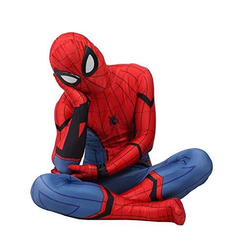 MODRYER Enfants Superhero Spiderman Costume Film Homecoming Cosplay Jumpsuit Halloween Carnaval Déguisements Costume Mascarade Lycra Outfit Zentai,Adults/S 155~160cm