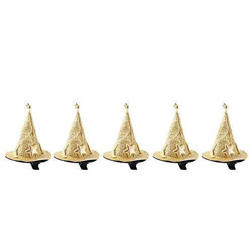 Horquilla de Halloween-5 Piezas Mini pasadores de Bruja Pinzas de Pelo Bonitas Accesorios de Disfraz de Cosplay para decoración de Fiesta de Halloween