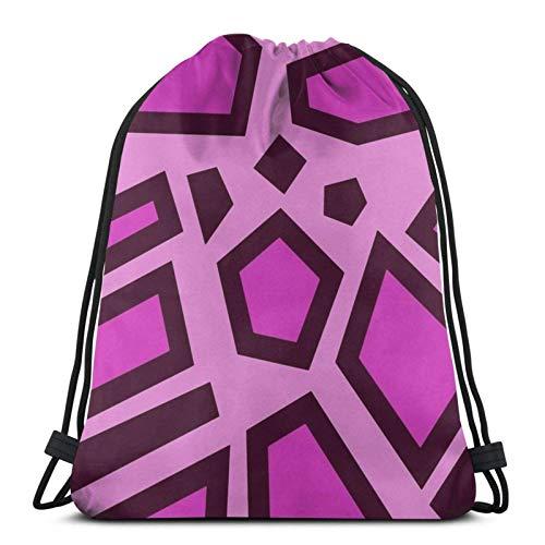 WH-CLA Cinch Bags Kip-O Pink Mega Ja-Guar Spots Männer Frauen Outdoor Drawstring Rucksäcke Leichte Casual Beach Bag Print Kordelzug Taschen Einzigartige Aufbewahrung Cinch Taschen Für Yo