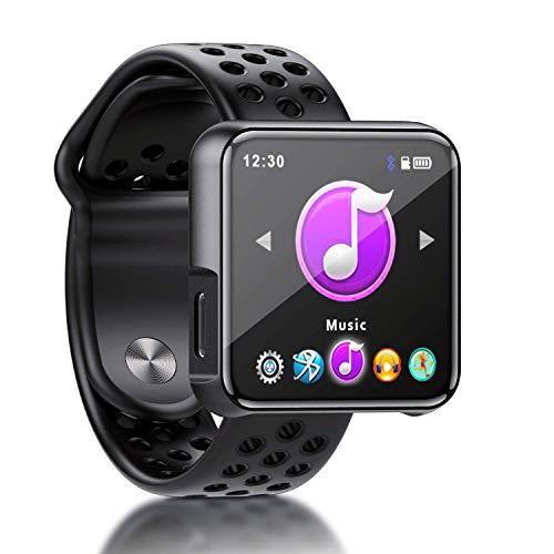 MP3 Player, SEWOBYE Voller Touchscreen MP3 Player Bluetooth, Fitness Bluetooth MP3 Player Sport mit Schrittzähler/FM Radio/Timer - Speicher Erweiterbar Bis 128 GB