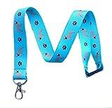 French Bulldog Dog Breed Print Break Away Lanyard Key Chain Id Badge Holder