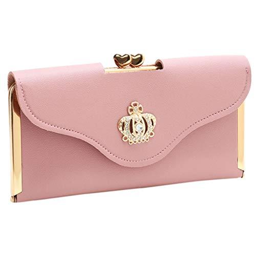 Bfmyxgs Clutch Bag Crown Diamant Handytasche Damen Lange Abendtasche Geldbörse Handytasche Clutch Bag Münze Geldbörse Handtasche