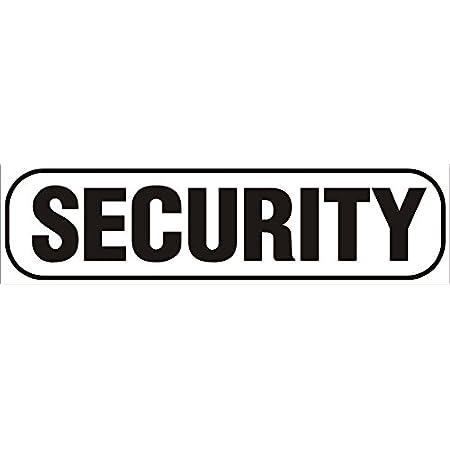 Indigos Ug Magnetschild Security 30 X 8 Cm Schwarz Magnetfolie Für Auto Lkw Truck Baustelle Firma Auto