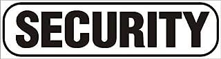 INDIGOS UG   Magnetschild Security 30 x 8 cm schwarz   Magnetfolie für Auto/LKW/Truck/Baustelle/Firma