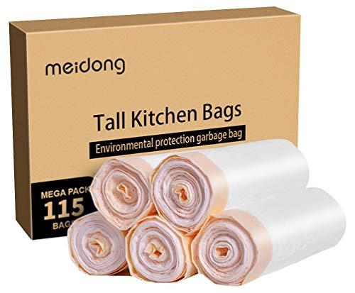 Meidong 2020 Bolsas de Basura 50L (5 Rollos, 115 Cuentas en Total)