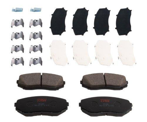 TRW Automotive TPC1258 Scheibenbremsbelagsatz, für Ford Edge: 2007–2014 und andere Anwendungen, vorne, schwarz