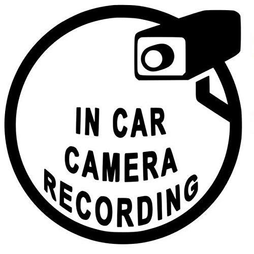 MCTYLI 13,7 cm x 13,8 cm Interessant bij de opname van autocamera Vinyl Black/Silver autosticker