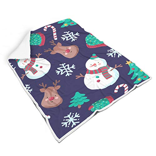 Rcerirt Christmas Tree New Year knuffelig bont deken voor bank niet pluizen voor kinderen of volwassenen, prachtige stijl