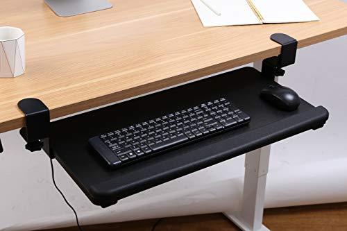 SANODESK KT2B Tastaturablage Tastaturschublade für Keyboard Neigbar, Metall, schwarz