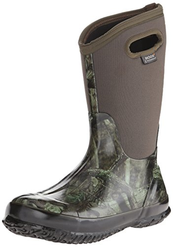 BOGS Unisex-Child Classic High Waterproof Insulated Rubber Neoprene Rain Boot Snow, Camo Mossy Oak/Green/Multi, 6 Big Kid