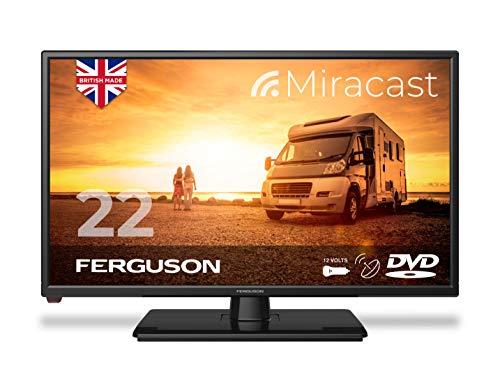 Ferguson F2220FMTR 22 inch 12 Volt Traveller Satellite LED/DVD TV Made in the UK, Black
