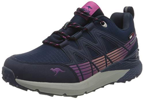 KangaROOS Unisex K-Trun Low RTX Sneaker, Dark Navy/Daisy Pink 4204, 38 EU