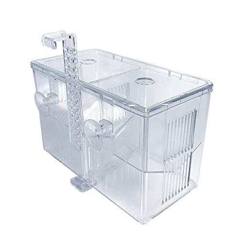 N/A/a Caja de cría de Peces de 4 Habitaciones, Caja de cría de Acuario, Caja de criador para Tanques de Peces, Caja de Aislamiento de incubadora Doble para