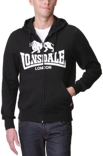 Lonsdale London Stockfort Hoody Kapuzenpullover 111113-1000 Sweater Black