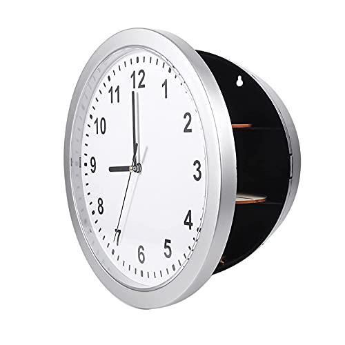 Reloj de pared con espacio de almacenamiento oculto, caja fuerte con espacio de almacenamiento interno, puede almacenar joyas, efectivo
