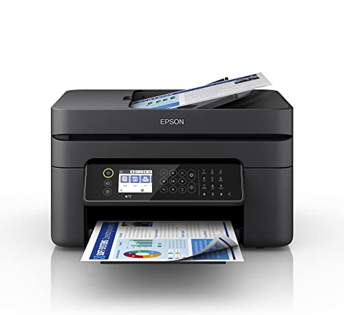 Epson Workforce WF-2870DWF   Impresora WiFi A4 Multifunción con Impresión a Doble Cara (Dúplex), Pantalla LCD y Alimentador de Documentos (ADF)   3en1: Impresión, Copiadora, Escáner   Mobile Printing