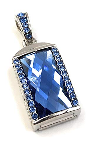 Onlineworld2013 steen ketting hanger Charm Blue Crystal Funny USB-stick 16 GB USB 2.0