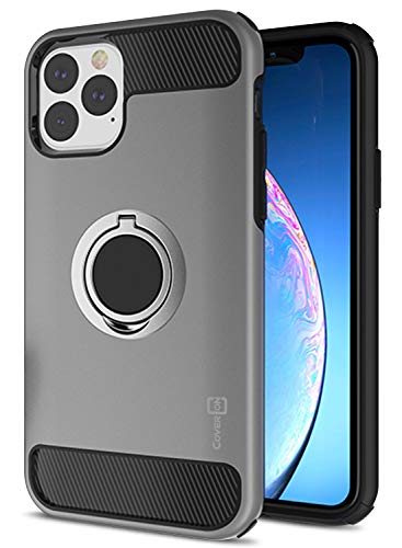 CoverON Protective Magnetic Ring Holder RingCase Series for iPhone 11 Pro Case (2019), Gunmetal Gray