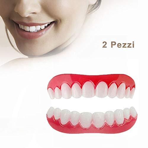 DYSEL Komfortabler Snap on Zahn Hosenträger Erwachsene Oben und Unten Provisorischer Zahnersatz Effektive Zahnaufhellung 2 Stück