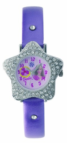 Barbie Mdchen Analog Quarz Uhr mit Lederimitat Armband B202