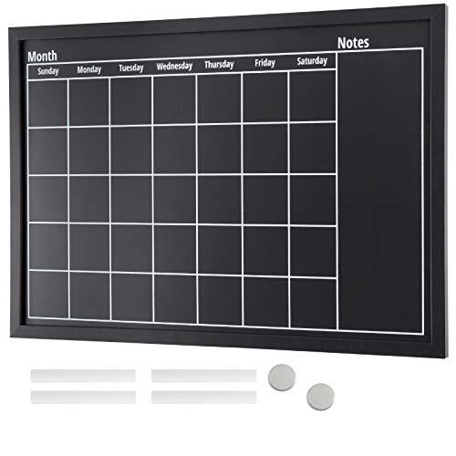"Framed Calendar Chalkboard: Includes Chalk & Magnets 23.5""x15"" - EGP-HD-0002"