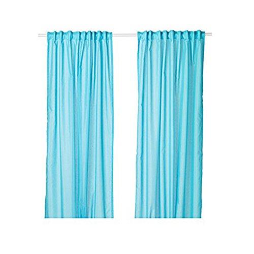 Ikea Thin Vivan Curtains 57x98 ½ (1, Turquoise)