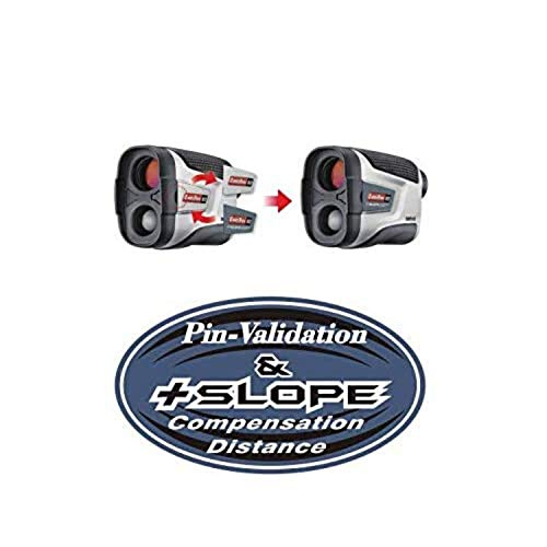 CaddyTek Unisex CaddyView V2 + Jolt & Slope Golf Laser Entfernungsmesser mit Slope und Jolt Funktion, Silber, Einheitsgröße